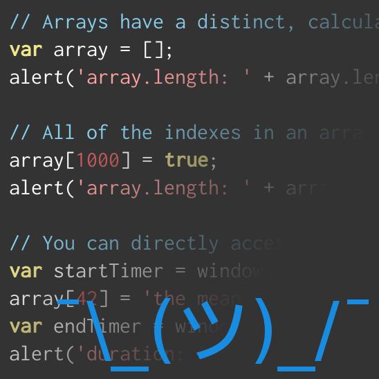 ASCII man shrugging in front of code