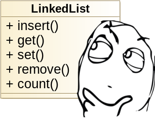 Thinking about how we're going to engineer the singly linked list.